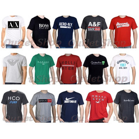 Kit Atacado 10 Camisas Masculina Várias Marcas Várias Cores