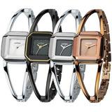 Relógio Feminino De Luxo De Marca Kimio Prata Marrom Preto