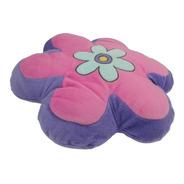 Almofada Modelo Flor Lilás Com Rosa