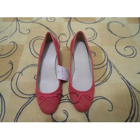 Sapato Feminino Zara Woman Tamanho 36 Vermelho Novo Etiqueta