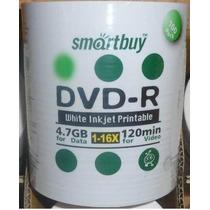 600 Dvd-r Smartbuy Printable 16x Dvd R Virgem Dvd -r - R