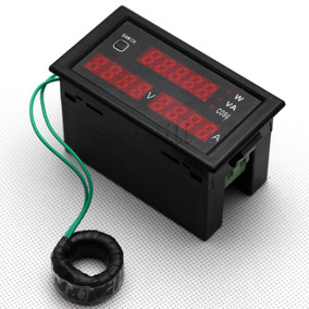 Panel Monitor De Voltaje, Amperaje, Factor De Potencia
