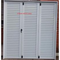 Postigon Aluminio Blanco Super Rerf. 3hojas 1,50 X 1,50
