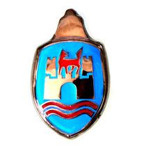 Blazon Emblema Cofre De Vw Sedan Vocho Azul Y Rojo