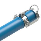 Tubo Pvc Irrigação Azul Dn 100mm Pn80 Cano Engate Metalico 6