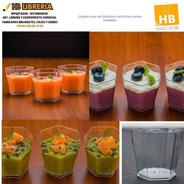 Pote Vaso Shot Hexagonal 60cc  Finger Food Catering  X30uni