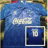 Camisa Cruzeiro Década De 90 _ Coca Cola Finta