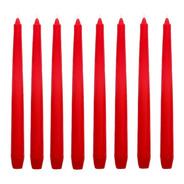 12 Velas P/ Castiçal  26 Cm 11 Cores Festa Candelabro Decoração Branca Amarela Laranja Vermelha Rosa Lilás Azul Verde