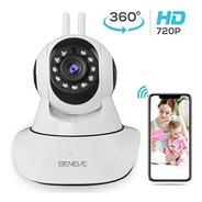 Cámara Wifi Inalámbrica Ip 720p, Vigilancia De Seguridad Par