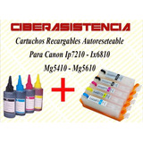 Cartuchos Recargables Canon Ip7210 Ix6810 Mg5410 Mg5610
