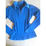 Blusa Feminina Tipo Polo Ziper Na Frente P