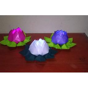 Flores De Loto Con Luz Led - Origami