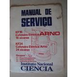 Arno Manual De Servicio Esquemas Electricos Cafetera Electri