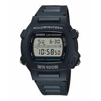 Relógio Casio W-740-1vs Preto Fosco - Frete Grátis