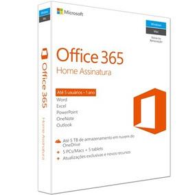 Microsoft Office 365 Home Para 5 Pc 6gq-00647