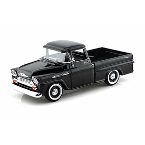 Motor Max 1:24 - 1958 Chevrolet Apache Fleetside Troca Negra