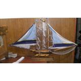 Barco De Madera Grande Antiguo Coleccion
