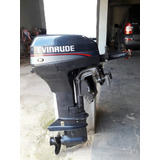 Motor De Popa Evinrude 15hp Ano 94 + Tanque Original