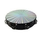 Pandereta Musical 8 Percusión Reflectante Doble Fila Jin...