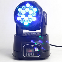 Mini Moving 18 Leds 3w Rgb Profissional Dmx Dj Iluminação
