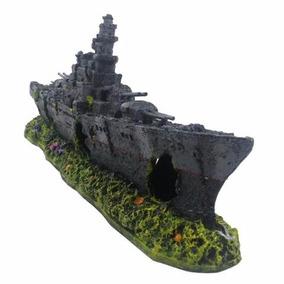 Enfeite Para Aquário Barco Fragata 325 - B44