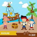 Kit Imprimible Jake Y Los Piratas Imagenes Clipart