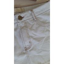Saia Jeans Branca Com Cinto Lança Perfume