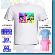Kit 10 Camisetas Adulto Infantil Personalizada Jovens Titans