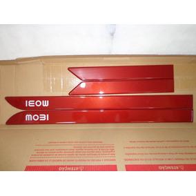 Jogo Friso Lateral Fiat Mobi 4 Portas Vermelho Opulence