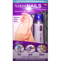 Lixa Eletronica Unhas Kit Manicure Naked Nails Profissional