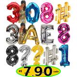 Balão Metalizado Números/letras Grande 72/75cm Aniversário