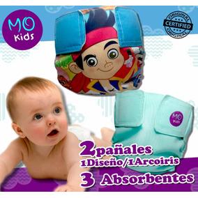 Combo C Pañales Ecologicos Mo Kids 2 Pañales Y 3 Absorbentes