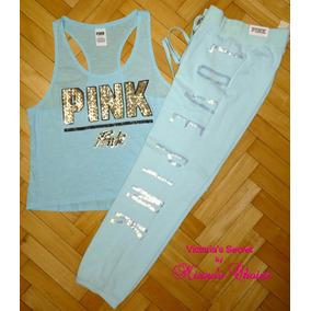 Pantalon Aqua Lentejuelas Love Pink S Victoria
