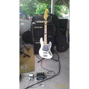Baixo Fender Squier Vintage Modified 5 Cordas Olympic White
