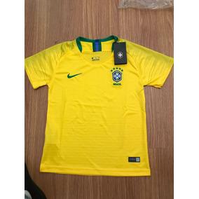 Camiseta Feminina Masculina Brasil Copa Do Mundo Rússia 2018