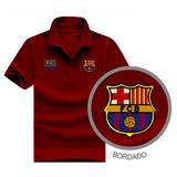 Camisa Polo Cor Vinho Barcelona Camisa Barcelona Fcb