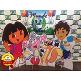 Kit Displays Dora Aventureira 8 Pçs.totens.mdf Envio 48h
