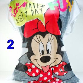 Blusa Flame Minnie Mickey Compre 3 U. Ganhe Uma De Brinde