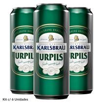 Kit Cerveja Alemanha Karlsbrau Pilsen Latão 500ml - C/ 6 Und