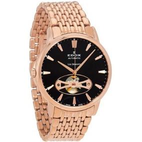 feb90e2bbba Relógio Edox Les Bemonts Preto rosé Heart Automático Suíço