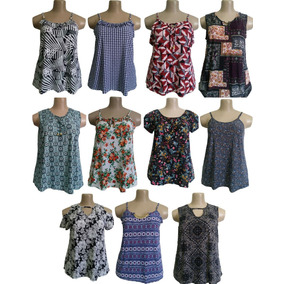 Kit 5 Blusa Blusinha Bata Feminina Plus Size Promoção