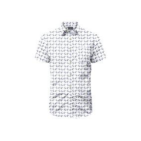 Camisa Manga Corta La Jolla Rosé Pistol Para Hombre - Blanco