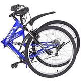 26 Plegable Bicicleta 7 Velocidad Bicicleta Híbrida De