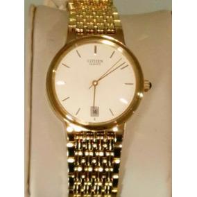 Nuevo! Reloj Para Caballero Citizen Con Fechador Chapa Oro