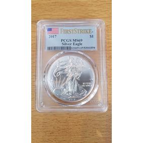 Moneda Onza De Plata Eeuu 2017 Certificada (silver Eagle)
