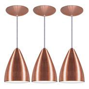 Kit 3 Pendente Cone Em Alumínio Alta Qualidade