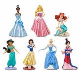 Set 7 Princesas Figuras Disney Ariel Aurora Cenicienta