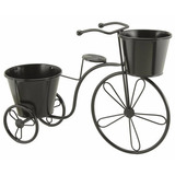 Triciclo Bicicleta Portamaceta Macetero Hierro Balcon Jardin