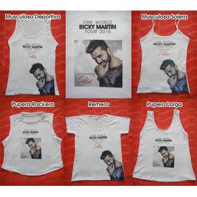 Ricky Martin En Salta Remeras, Musculosas Y Puperas