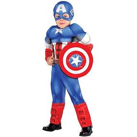 Disfraz Talla 3 A 4 Años Capitan America Disfraz Traje Niño